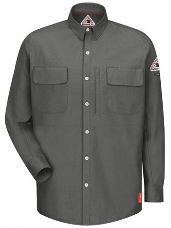 Iq Series Mens Long Sleeve Patch Pocket Shirt Qs30 77