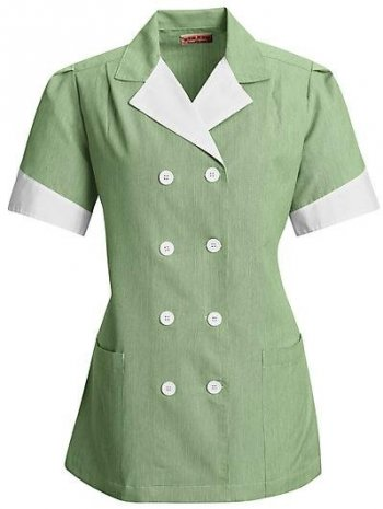 Women\'s Housekeeping Double-Breasted Lapel Tunic #9S03