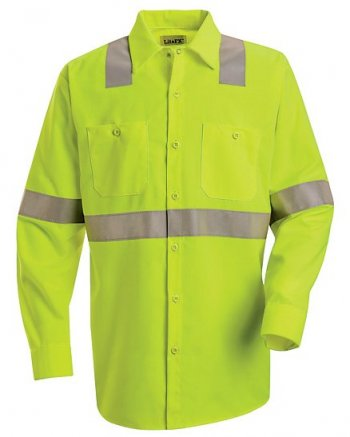 Long Sleeve Hi-Visibility Work Shirt - Class 2 Level 2 #SS14