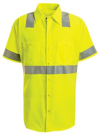 Short Sleeve Hi-Visibility Work Shirt - Class 2 Level 2 #SS24