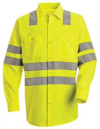 Long Sleeve Hi-Visibility Work Shirt - Class 3 Level 2 #SS14