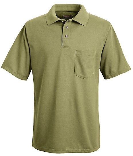 Performance knit polyester solid shirt sk02 performance for Work uniform polo shirts