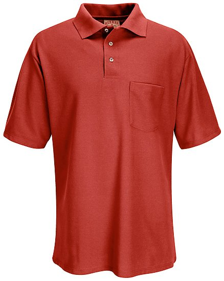 Performance knit 50 50 blend solid shirt sk28 performance for Work uniform polo shirts